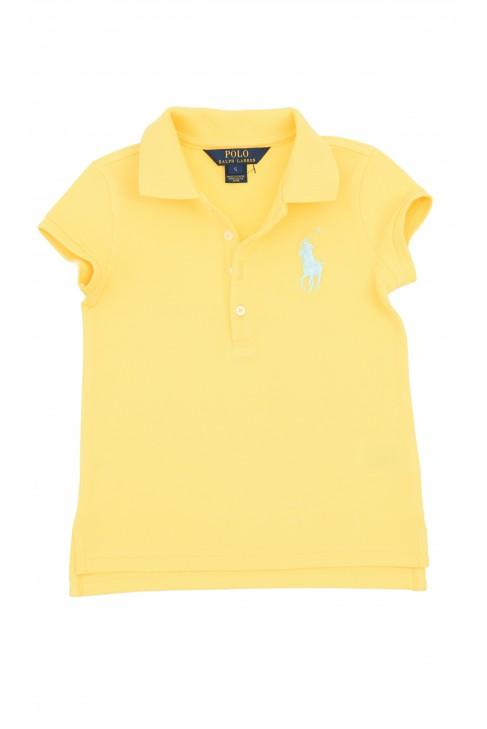 Żółte polo dziewczęce, Polo Ralph Lauren