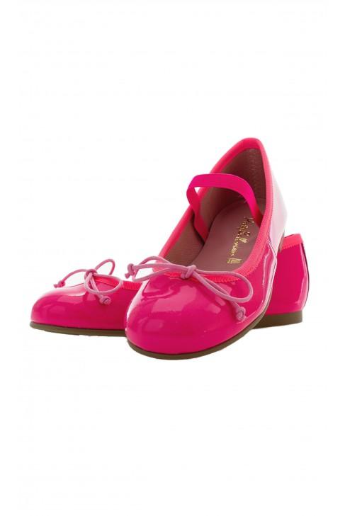 Jaskrawo-różowe baletki, PrettyBallerinas