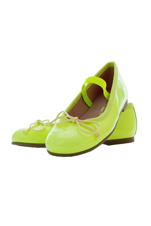 Jaskrawo-zielone baletki, PrettyBallerinas