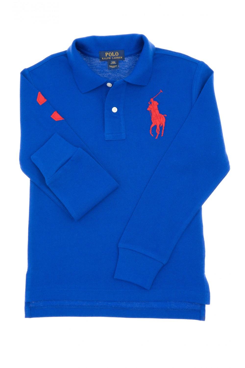 Sapphire long sleeved boy s polo shirt polo ralph lauren for Long sleeved polo shirts for boys