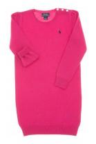 Różowa sukienka wełniana z długim rękawem, Polo Ralph Lauren
