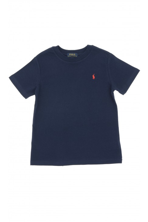 Granatowy t-shirt na krótki rękaw, Polo Ralph Lauren