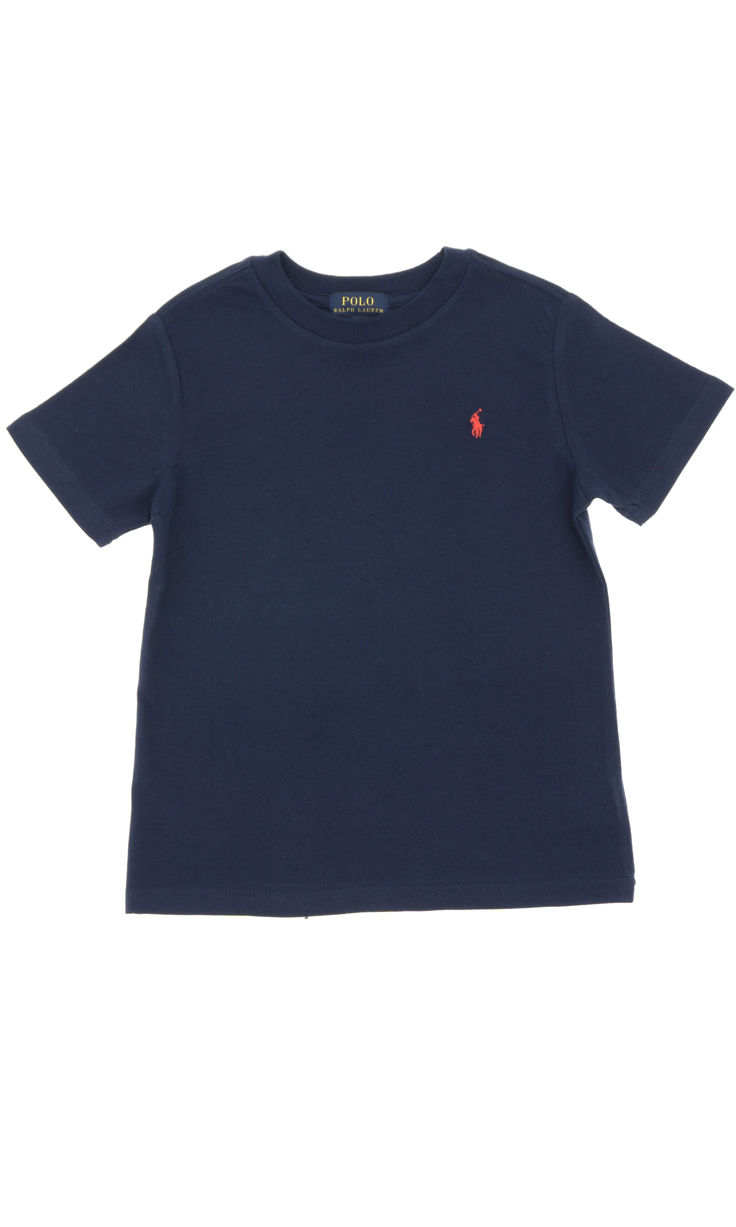 Navy blue short sleeved t shirt polo ralph lauren for Ralph lauren polo club shirts