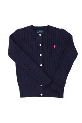 Granatowy sweter rozpinany, Ralph Lauren