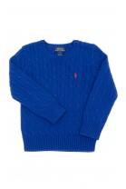 Szafirowy sweter, okrągły pod szyją, Polo Ralph Lauren