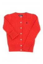 Czerwony sweter rozpinany, Polo Ralph Lauren