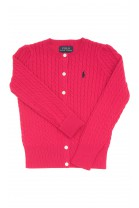 Różowy sweter rozpinany, Polo Ralph Lauren