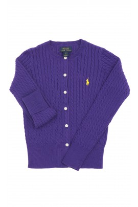 Fioletowy sweter rozpinany, Polo Ralph Lauren