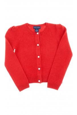 Sweter czerwony rozpinany, Ralph Lauren