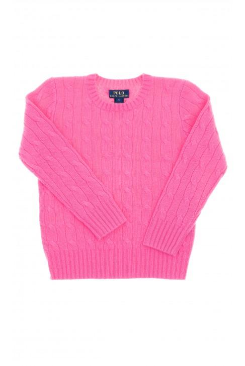 Różowy sweter okrągły pod szyją, Polo Ralph Lauren