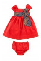 Czerwona sztruksowa sukienka z rękawkiem, Polo Ralph Lauren