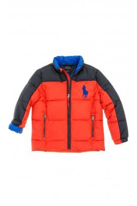 Czerwono-czarna kurtka chłopięca, Polo Ralph Lauren