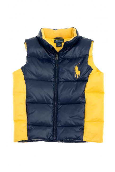 Granatowo-żółty bezrękawnik chłopięcy, Polo Ralph Lauren
