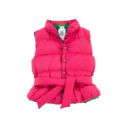 Girls' reversible sleeveless coat (pink/green), Polo Ralph Lauren