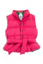 Dwustronny różowo-zielony bezrękawnik dziewczęcy, Polo Ralph Lauren