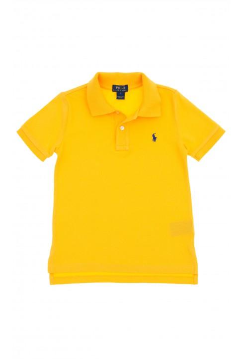Żółte polo na krótki rękaw, Polo Ralph Lauren