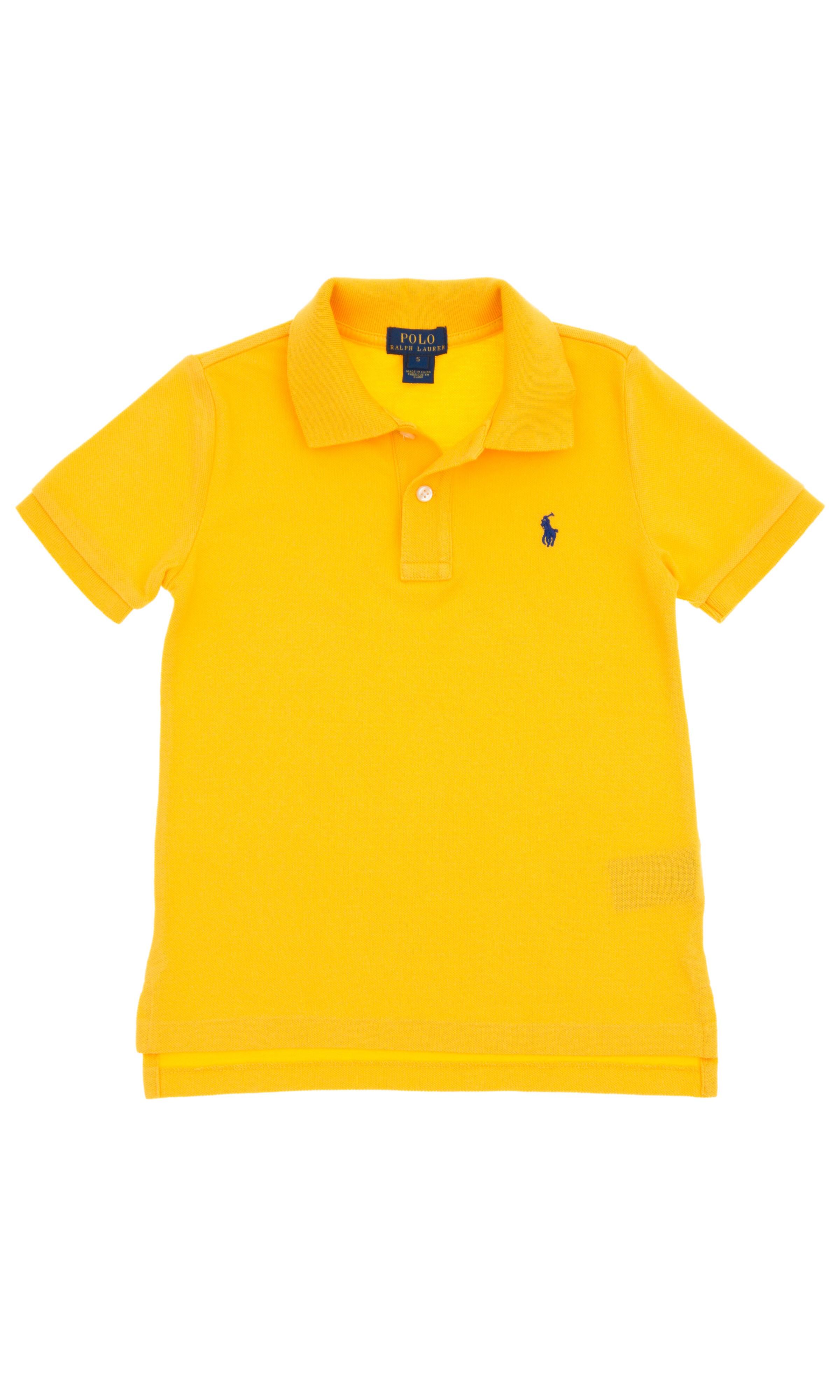 Żółte polo na krótki rękaw 7f42747f5e0