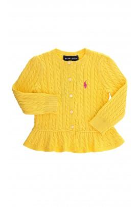 Żółty sweterek na guziczki, Polo Ralph Lauren