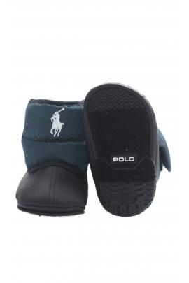 Granatowo-czarne malutkie śniegowce, Polo Ralph Lauren