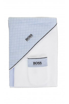 Ręcznik kąpielowy z myjką, Hugo Boss