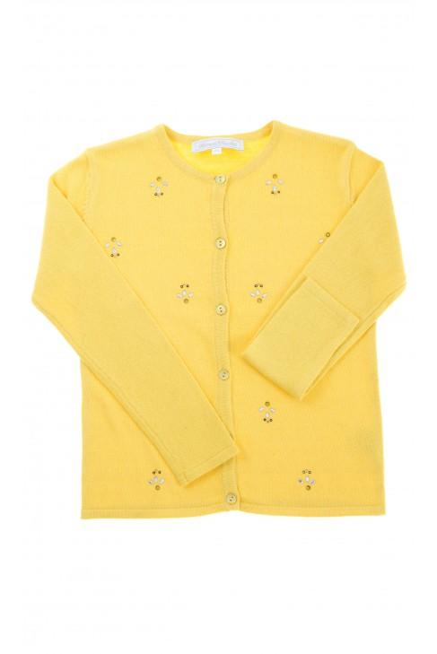 Żółty sweter dziewczęcy, Tartine et Chocolat