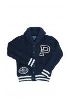 Granatowy sweter rozpinany na guziki, Polo Ralph Lauren