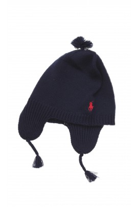 Granatowa czapka dziewczęca, Polo Ralph Lauren
