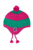 Różowo-zielona czapka dziewczęca, Polo Ralph Lauren