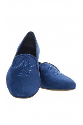 Granatowe pantofle, Miss Blumarine