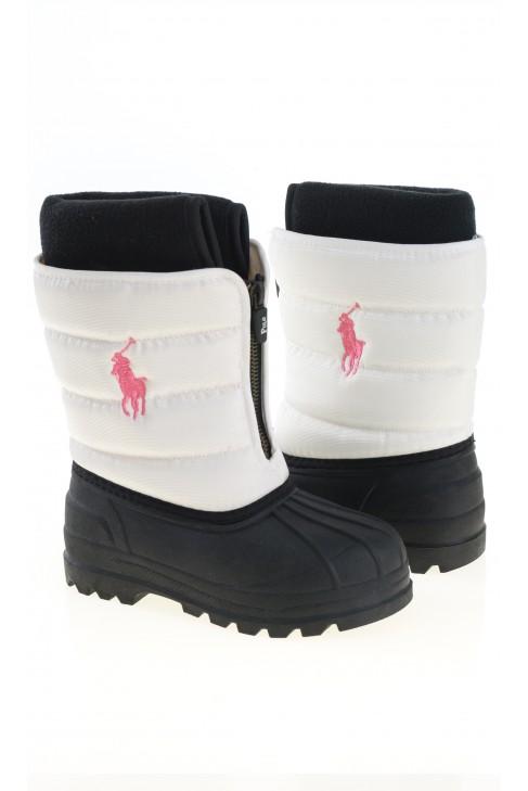 Biało różowe śniegowce, Polo Ralph Lauren