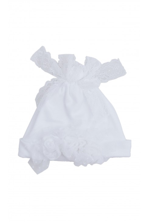 Biała czapeczka do chrztu, Aletta