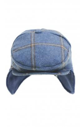 Niebieska w kratkę czapka chłopięca, Colorichiari