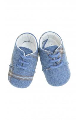 Buciki niemowlęce granatowo szara krata, Colorichiari