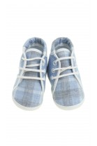Buciki niemowlęce niebiesko szara krata, Colorichiari