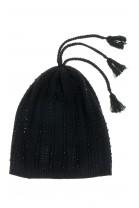 Czarna czapka dziewczęca. Polo Ralph Lauren