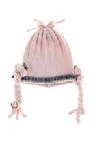 Różowo szara czapka niemowlęca, Aletta
