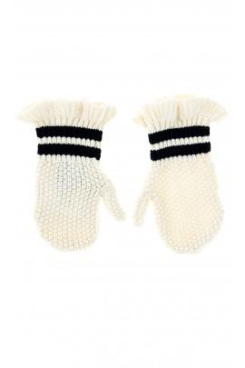 Białe rękawiczki niemowlęce, Polo Ralph Lauren