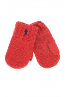 Rękawiczki czerwone z 1-palcem, Polo Ralph Lauren