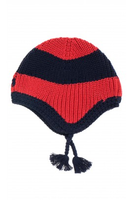Czerwono granatowa czapka, Polo Ralph Lauren
