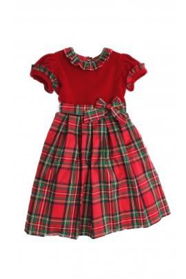 Sukienka czerwona w kratę, Mariella Ferrari