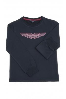 Granatowy t-shirt chłopięcy, Aston Martin