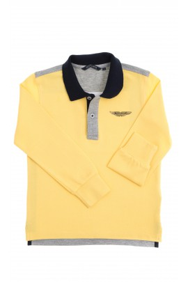 Żółto szare polo chłopięce, Aston Martin
