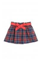 Spódnica w czerwono granatową kratkę, Polo Ralph Lauren
