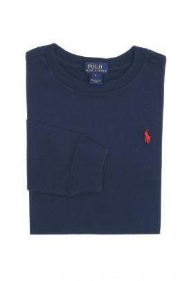 Granatowy t-shirt chłopięcy, Polo Ralph Lauren