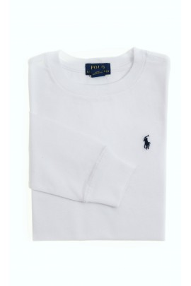T-shirt biały z długim rękawem, Polo Ralph Lauren