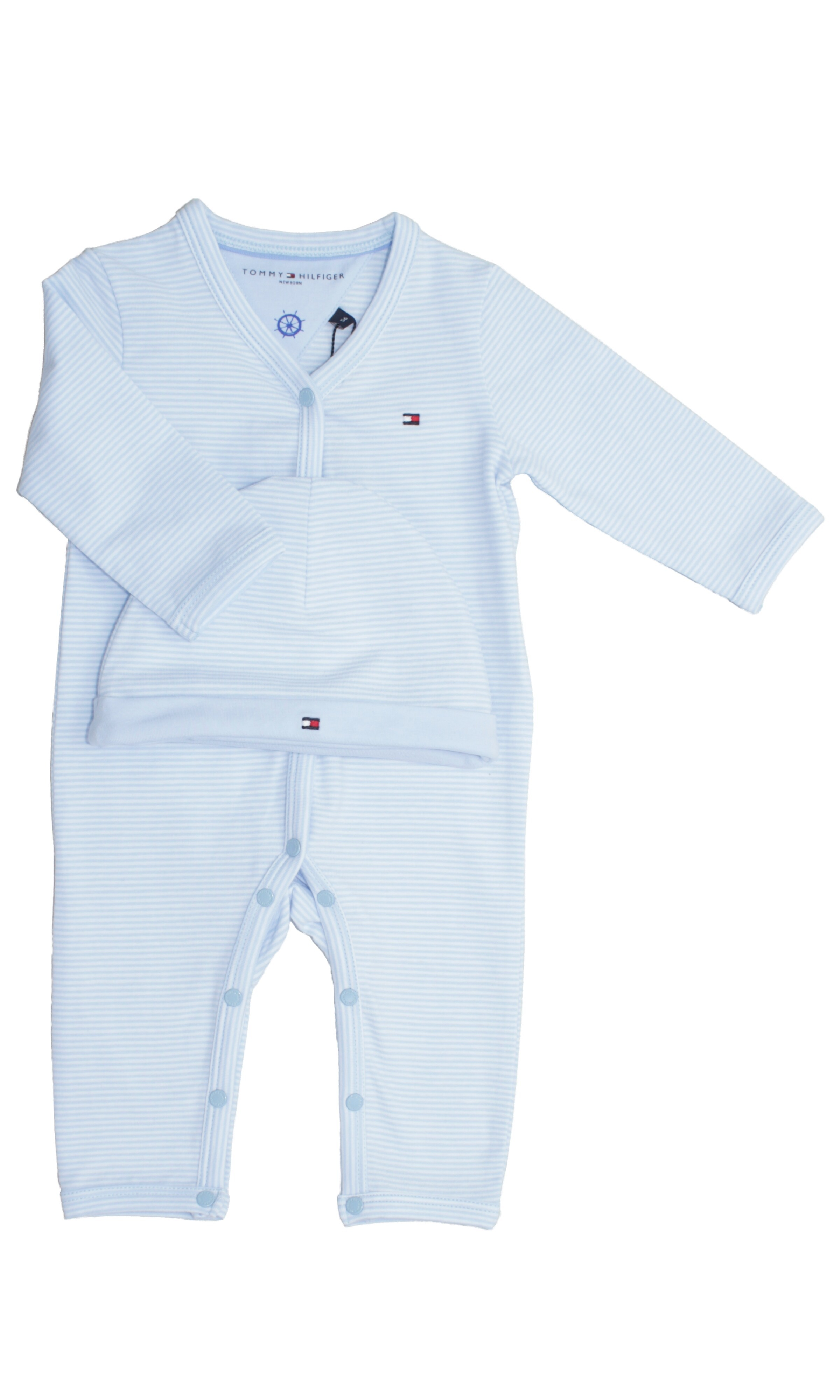 Blue Sleep Suit And Hat Tommy Hilfinger Celebrity Club