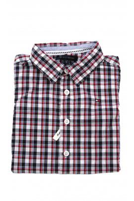 Granatowo-czerwona koszula w kratkę, Tommy Hilfiger