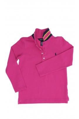 Ciemno różowe polo dziewczęce, Polo Ralph Lauren