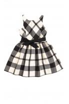 Sukienka w biało-czarną kratę, Polo Ralph Lauren
