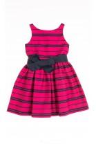 Sukienka różowa w granatowe paski, Polo Ralph Lauren